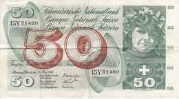 BILLETE DE SUIZA DE 50 FRANCS DEL AÑO 1963 EN CALIDAD EBC (XF) (BANKNOTE) - Suiza