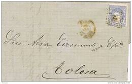24412. Carta Entera HARO (Logroño)  1871. Alegoria De España - Cartas