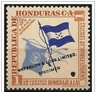 Honduras: Prova Di Colore, Color Proof, épreuve Couleur, Bandiere, Flags, Drapeaux