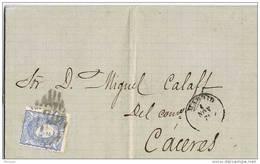24414. Carta Entera MADRID 1871. Parrilla De Madrid. Alegoria España - Cartas