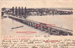 POTI - GEORGIA EX. RUSSIA - LE PONT & LA GRANDE ILE 1903  RARE POSTCARD - Georgia