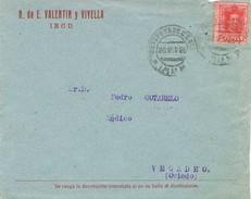 24415. Carta IRUN (Guipuzcoa) 1926. Estafeta De Cambio. Alfonso XIII