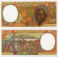 CENTRAL AFRICAN STATES   C: Congo    2000 Francs    P-103Cg       (20)00     UNC - Central African States