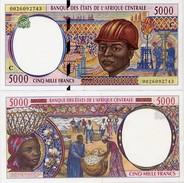 CENTRAL AFRICAN STATES   C: Congo    5000 Francs    P-104Cf       (20)00       UNC - Central African States
