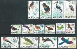 Malawi 1968   Sc#95-109  Set Of 14 Birds  MNH**  2016 Scott Value $80.10