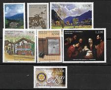 Andorre. 2005 N°613-619 N** Vendu Faciale-20%
