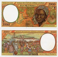 CENTRAL AFRICAN STATES   F: C.Afr.Rep.    2000 Francs     P-303Ff       (19)99     UNC - Central African States
