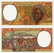 CENTRAL AFRICAN STATES   N: Equatorial Guinea    2000 Francs    P-503Ng       (20)00       UNC - Central African States