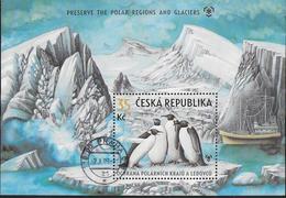 REPUBBLICA CECA - PROTEZIONE DELLE ZONE POLARI E DEI GHIACCIAI - FOGLIETTO USATO - Preservare Le Regioni Polari E Ghiacciai