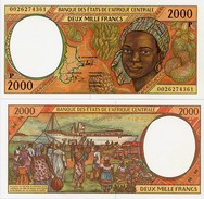 CENTRAL AFRICAN STATES   P: Chad    2000 Francs    P-603Pg       (20)00       UNC - Central African States