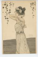 FEMMES - FRAU - LADY - Jolie Carte Fantaisie Portrait Femme ART NOUVEAU Signée RAPHAEL KIRCHNER - Kirchner, Raphael