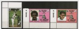 St. Vincent/Saint-Vincent: Specimen, Famosi Giocatori Di Cricket, Famous Cricketers, Joueurs De Cricket Célèbres - Cricket
