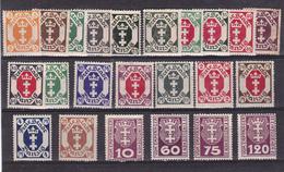 ALLMAGNE - DANTZIG - 23 TRES  BEAUX  TIMBRES NEUFS  DE 1921/23