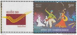 INDIA 2015 MY STAMP, DANDIYA DANCE,Very Popular Restival Dance,  Gujarat Special Limited Issue, 1v MNH(**)