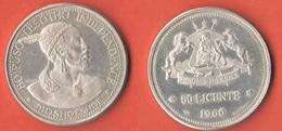 Lesotho 50 Licente 1966 Silver PROOF - Lesotho