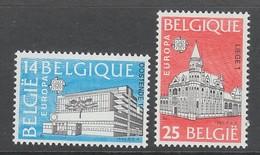 PAIRE NEUVE DE BELGIQUE - EUROPA 1990 : EDIFICES POSTAUX N° Y&T 2367/2368