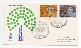 """1972 - FDC """" UNIONE INTERPARLAMENTARE """" VENETIA VIAGGIATA VEDI++++"""