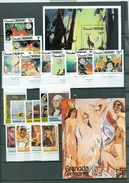 GRENADA GRENADINES LOT Of 52 Incl. 9sets Disney Chrismas Paintings Shuttle Royals More MNH Cat$56 WYSIWYG A04s