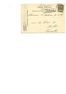 N° 53 Càd BRUXELLES-POPERINGHE 3 JUIN 1907 + GRIFFE Encadrée TERNATH V. Ixelles