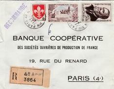 Recommandée De Paris XI Pour Paris Yvert 1186 Lille- Perpignan 1222- Jean Jaures 1217