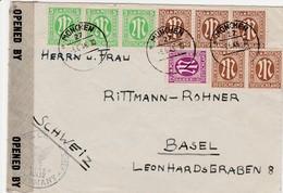 Allemagne Bizone Lettre Censurée Pour La Suisse 1946
