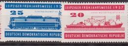 Germany DDR 1957 - Fiera Di Lipsia Trasporti  MNH