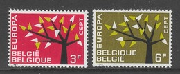PAIRE NEUVE DE BELGIQUE - EUROPA 1962 N° Y&T 1222/1223