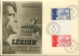 Carte Maximum   -  Légion Tricolore - Devant L'Histoire Tu Ne Seras Pas Un Héros Anonyme - France