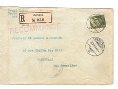 Suisse-Switzerland Registered Cover  Oerlikon 31/7/1918 Censored To Belgium Arrival Canc.PR4710 - Suisse