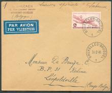 8Fr.50 DOUGLAS Obl. Sc BRUXELLES 1 Sur Lettre Par Avion Du 24-2-1946 Vers Léopoldville (arrivée KALINA) Liaison Spéciale - Luchtpost