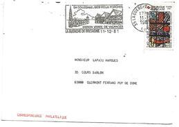 FLAMME DE LA GUERCHE DE BRETAGNE ILLE ET VILAINE 1981 - Postmark Collection (Covers)