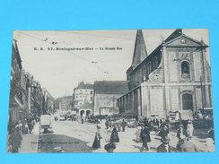 BOULOGNE SUR MER   1910 /  GRANDE RUE ANIMEE    / EDITEUR - Boulogne Sur Mer