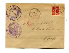 !!! 10C SEMEUSE SUR LETTRE DE 1916 CACHET MAIRIE DE DOLLEREN
