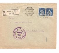 Suisse - Switzerland Registered Cover Zürich 19 Selnau 9/10/1915 Censored To Belgium Antwerpen PR4713 - Suisse