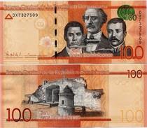 DOMINICAN REP.       100 Pesos Dominicanos      P-190[b]       2015      UNC - Dominicana