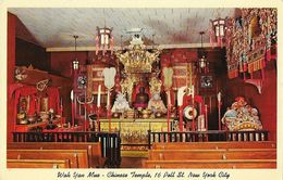 New York City - Wah Yan Mue-Chinese Temple - Carte Non Circulée - New York City