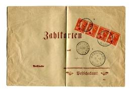 !!! BANDE DE 4 DU 10C SEMEUSE SURCH CROIX ROUGE SUR LETTRE DE MASSEVAUX ( VILLE RECONQUISE ) TARIF IMPRIME - Postmark Collection (Covers)