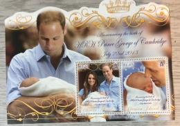 PITCAIRN ISLANDS 2013 Royal Baby Sheet MNH - Sellos