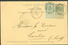 EP Obl. Sc Ambulant Français QUIEVRAIN à DOUAI - 11822 - Postmark Collection