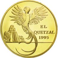 Guatemala, 10 Quetzales, 1995, Tower, SPL, Gilt Alloy, KM:2b.2 - Guatemala