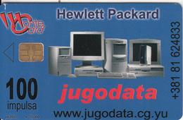 MONTENEGRO - Jugodata/Hewlett Packard, Pilot Pens, Tirage 70000, 06/01, Sample(no CN) - Montenegro
