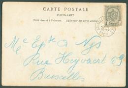 CP Obl. Sc AmbulantBRUXELLES-VERVIERS  2 Vers Bruxelles - 11828 - Postmark Collection