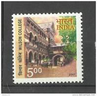 INDIA, 2007, 175th Anniversary Of  Wilson College, Mumbai,   MNH,(**)