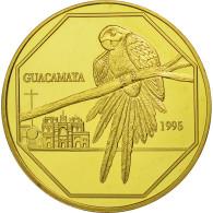 Guatemala, 50 Quetzales, 1995, Tower, SPL, Gilt Alloy, KM:3b.2 - Guatemala