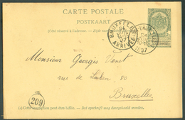 EP Obl. Sc Ambulant ARLON-BRUXELLES 1 Vers Bruxelles  - 11830 - Postmark Collection