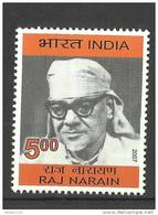 INDIA, 2007, Lokbandhu Raj Narain, (Freedom Fighter And Parliamentarian), MNH, (**)