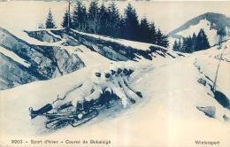 SPORTS  D'HIVER COURSE DE BOBSLEIGH - Sports D'hiver