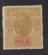 Romania Revenue - 10 Bani M.V.i.R. Overprint Mint Hinged