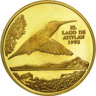 Guatemala, Quetzal, 1995, Tower, SPL, Gilt Alloy, KM:1b.2 - Guatemala