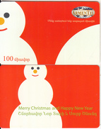 ARMENIA - Happy New Year 3/Snowman, ArmenTel Telecard 100 Units, Tirage 20000, Sample(no Chip, No CN)